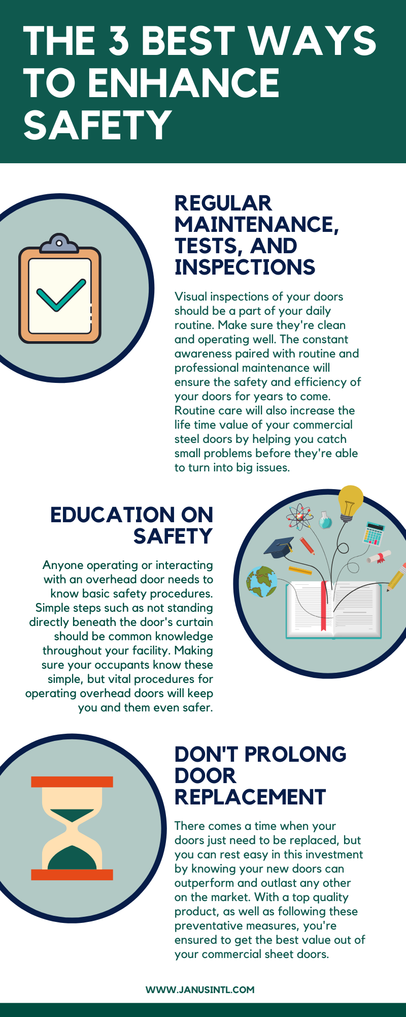 3 Steel Roll up Door Safety Tips Infographic