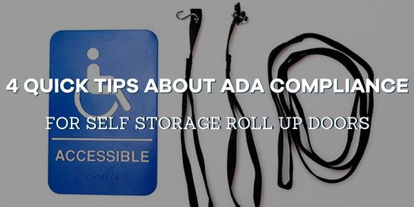 ADA compliance for self storage doors