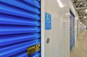 ADA compliant self-storage door