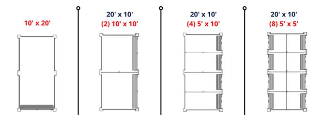 MASS unit configuration chart