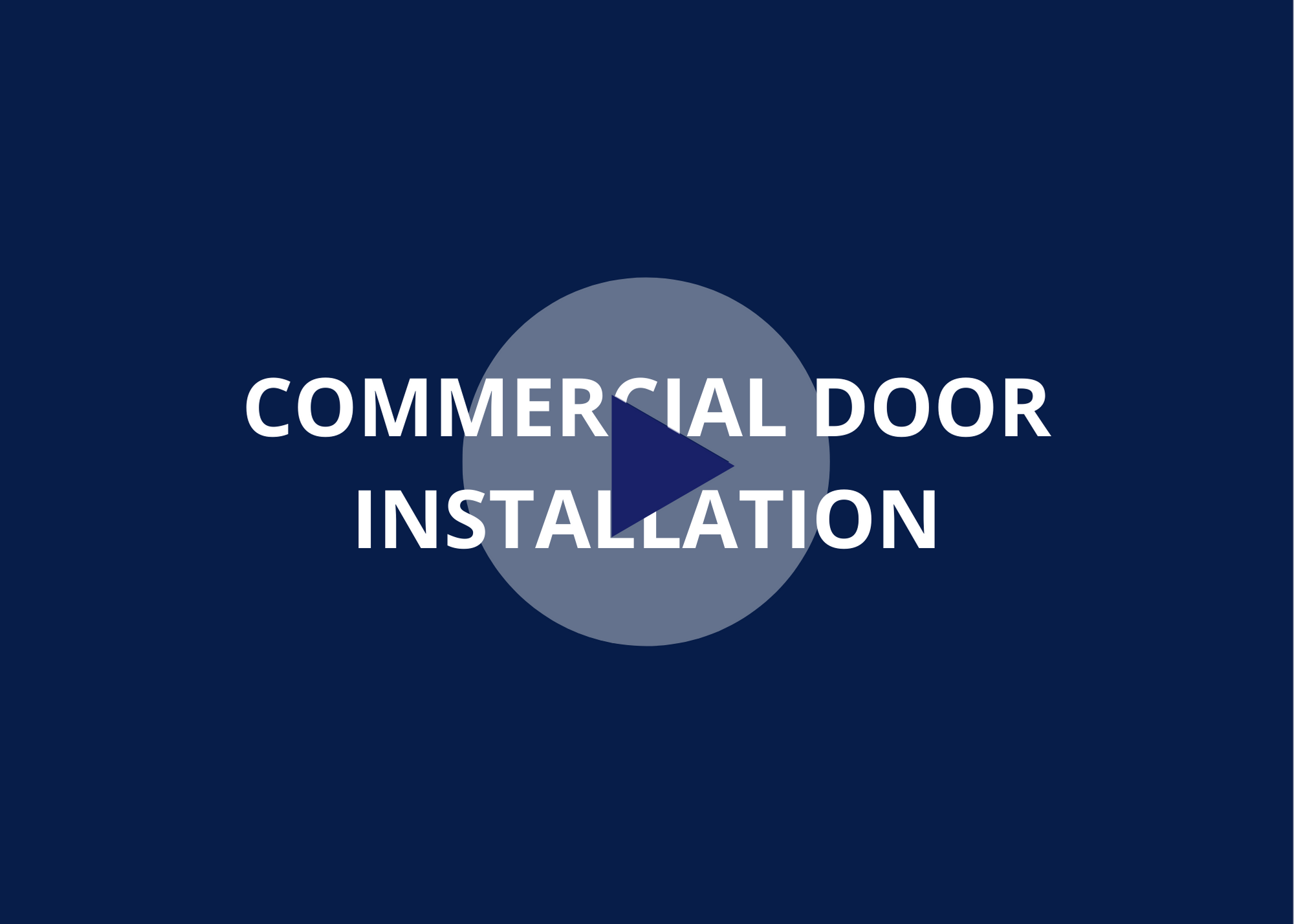 How to install a roll up door video snip