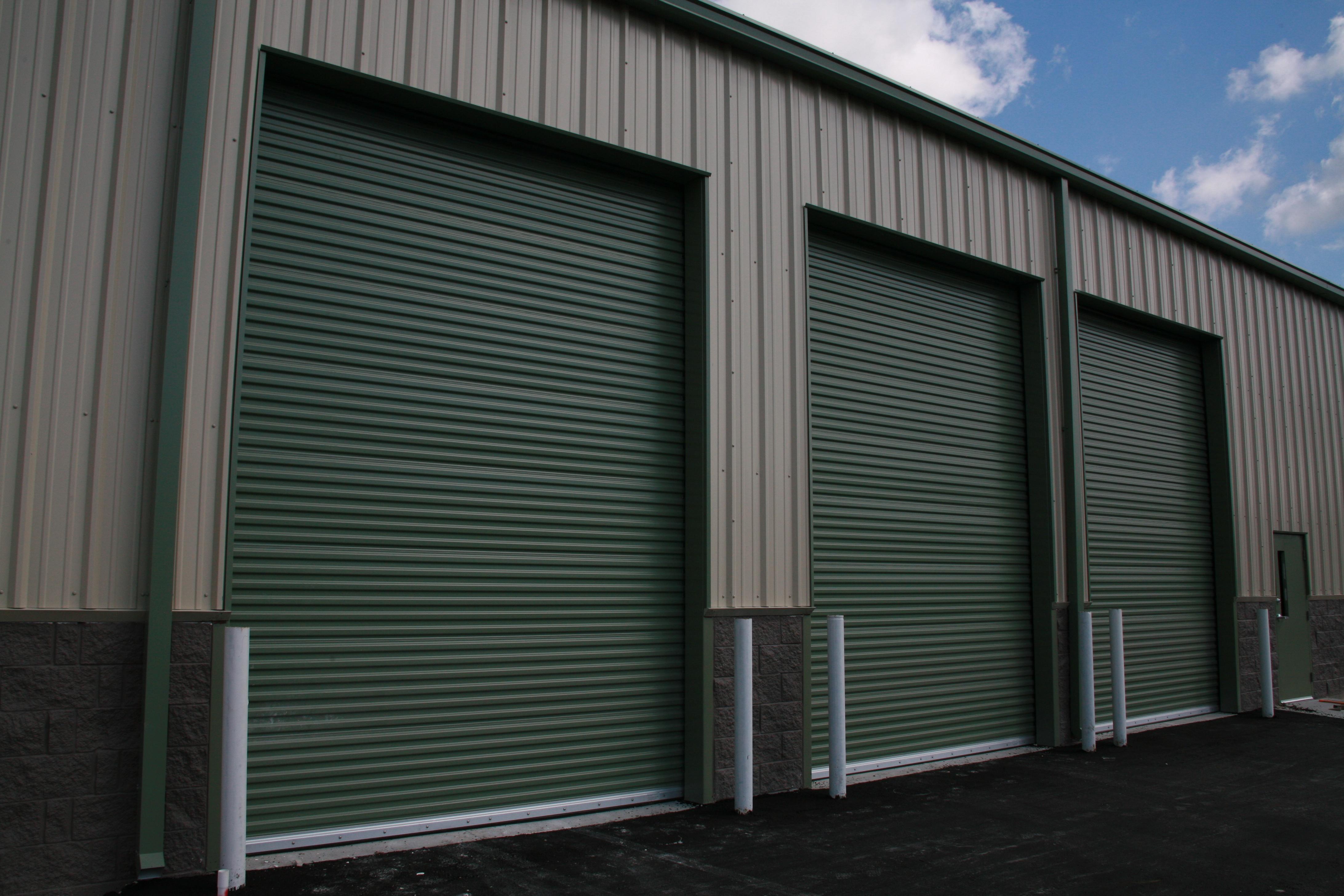 Green commercial roll up doors