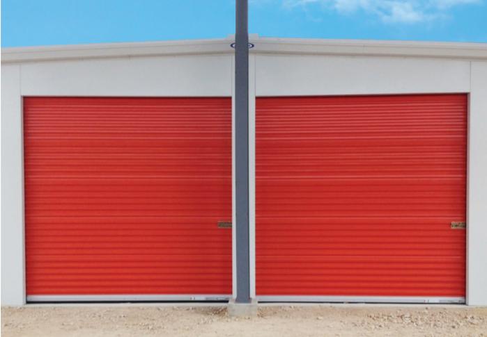 Orange Commercial Steel Roll Up Doors