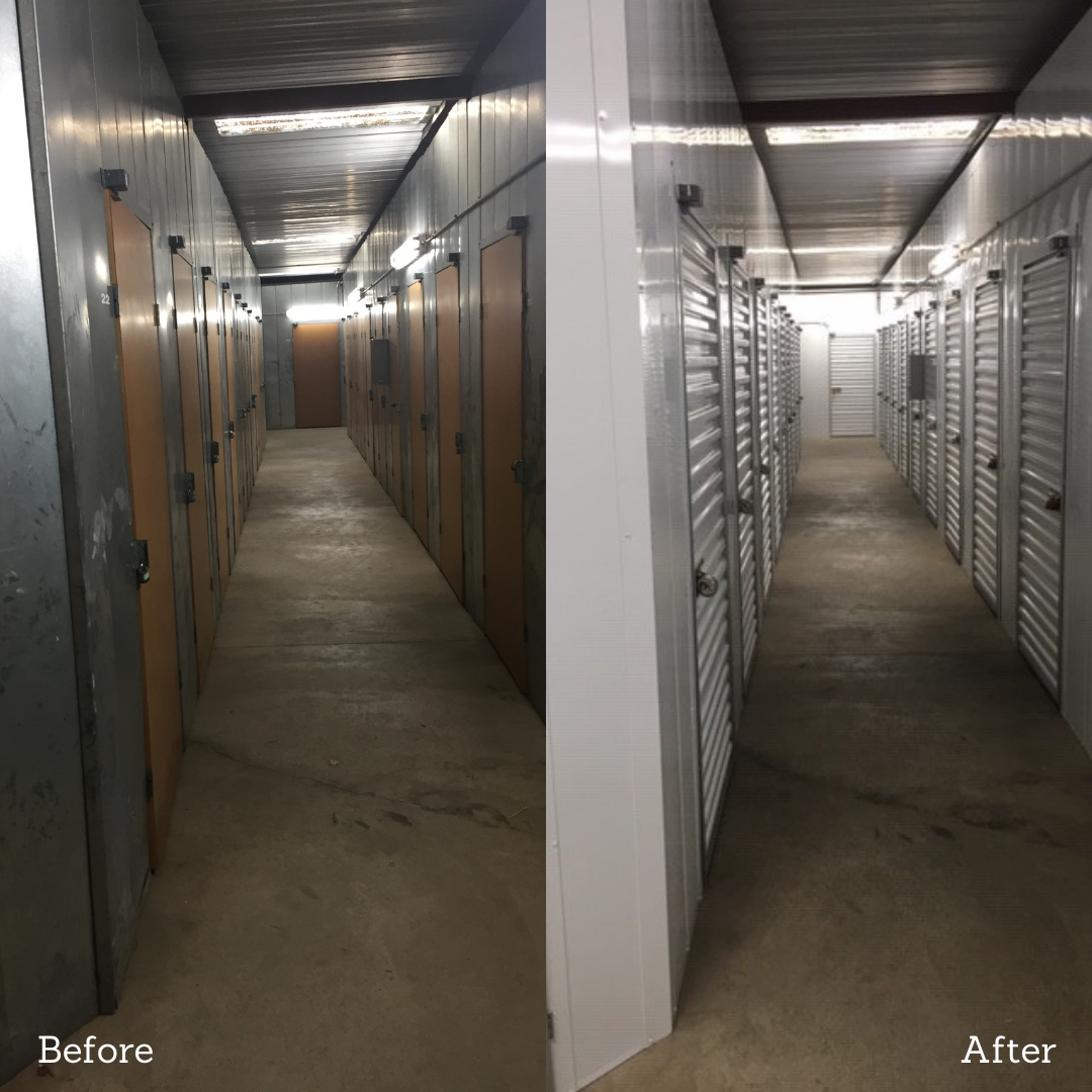 Self-Storage Hallway Replacement - Before_After
