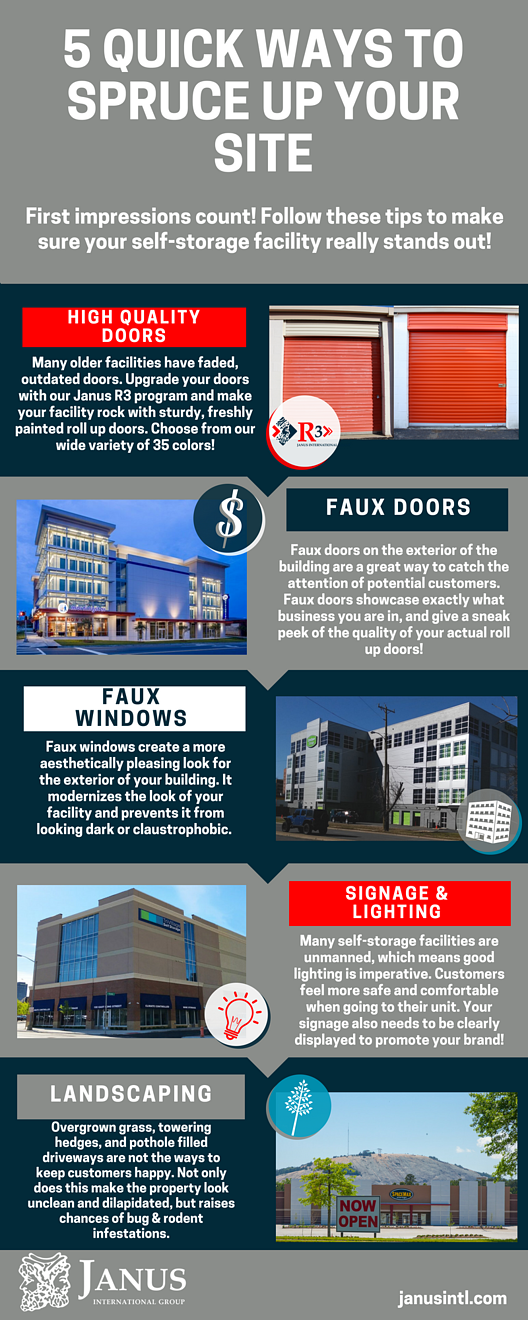 Infographic about how to increase your self storage facility's curb appeal
