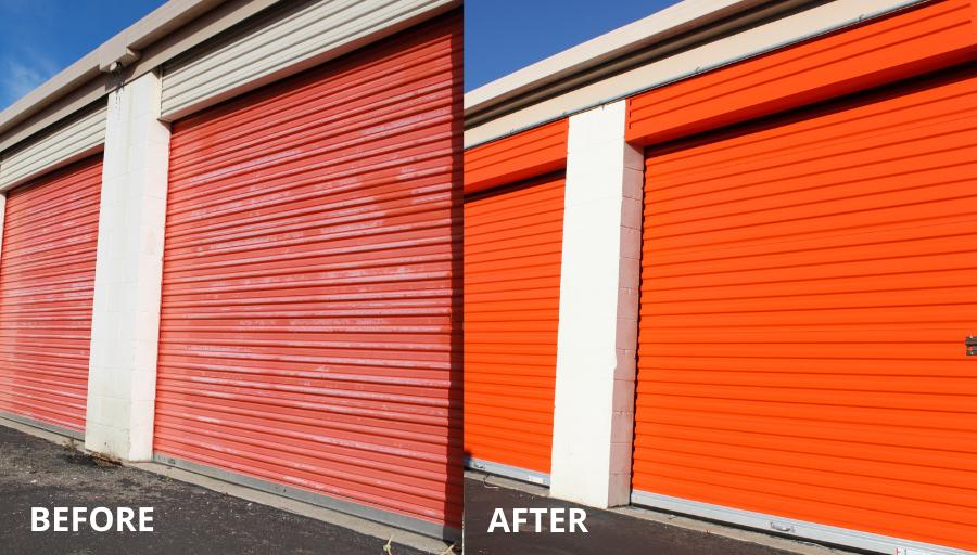 Self Storage Door Replacement - BeforeAfter