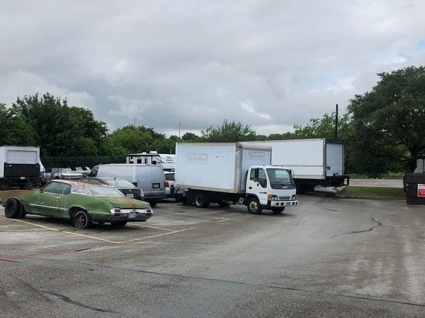 Parking lot before unit remix with MASS portable units