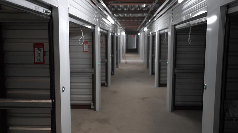 storage units with smart entry locks