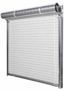 White Janus International model 1000 steel roll up doors