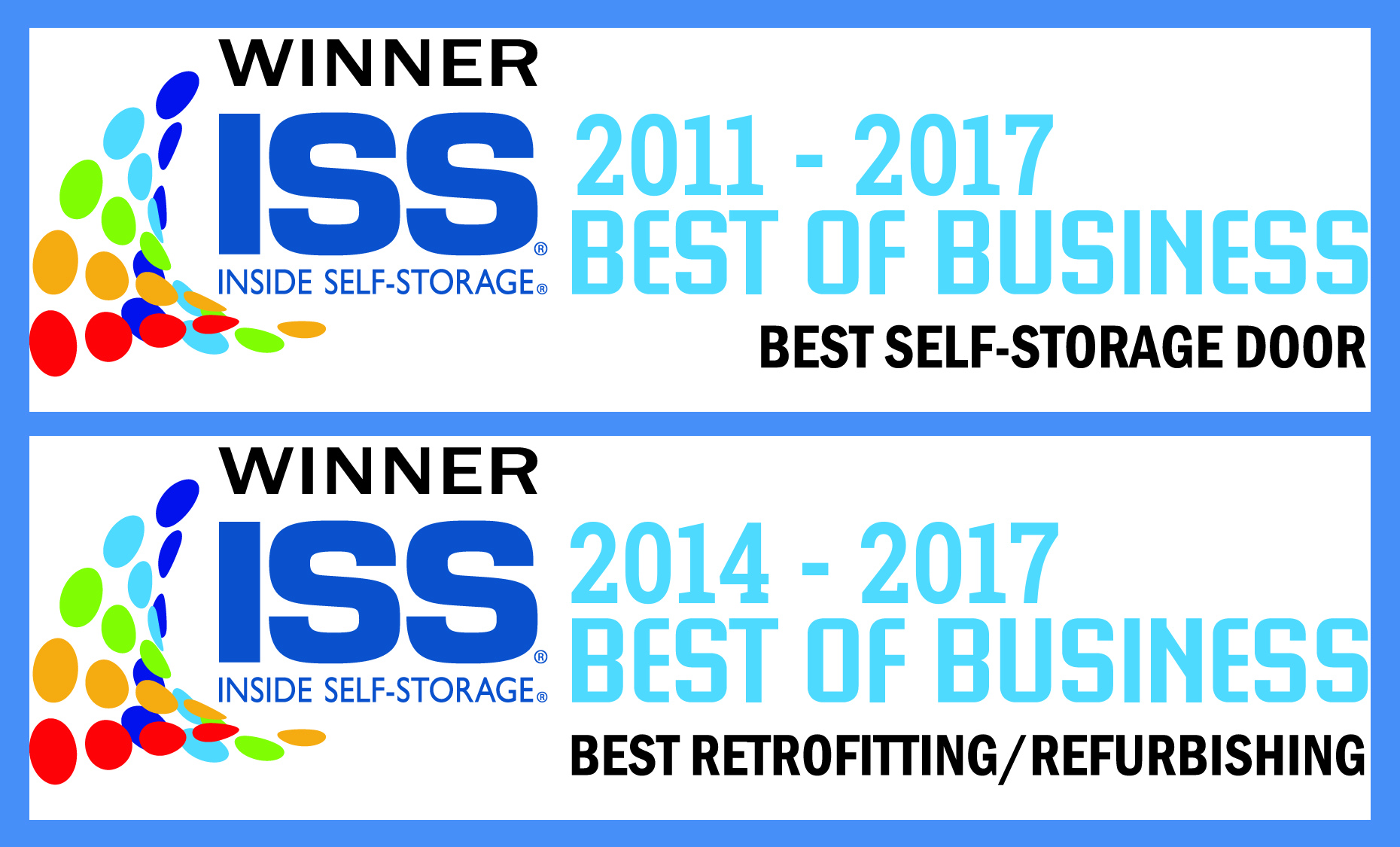 ISS Best of Business award banner