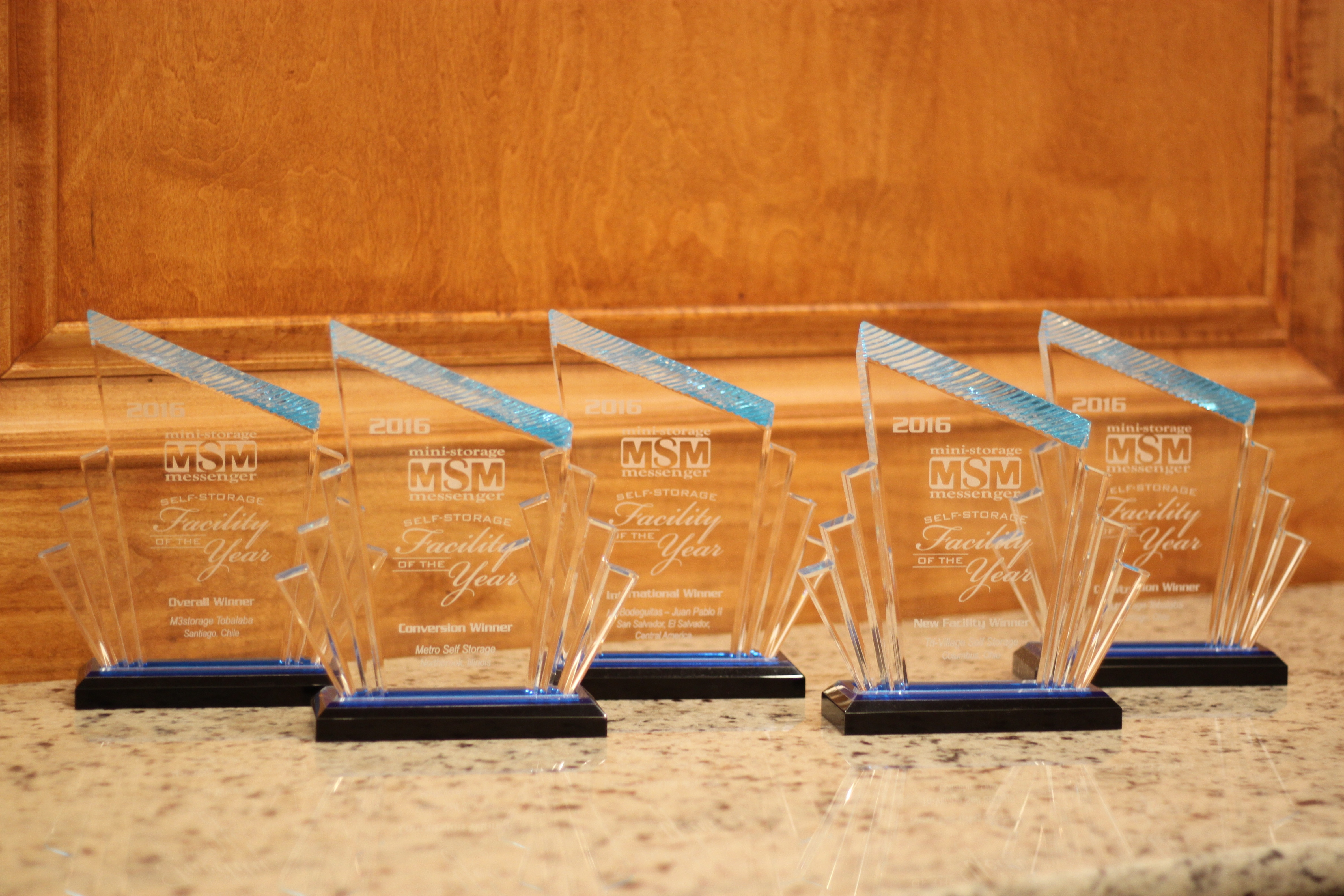 Mini Storage Messenger glass awards