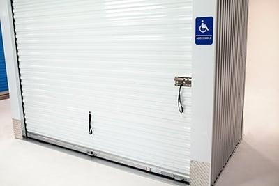 ADA compliant self storage door