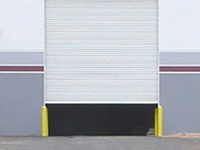 White Janus International commercial roll-up door