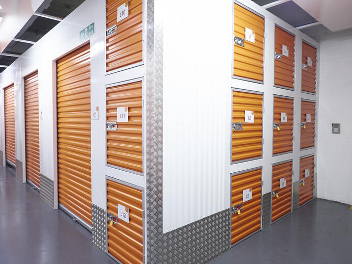 a perfect self-storage unit mix of larger units and lockers