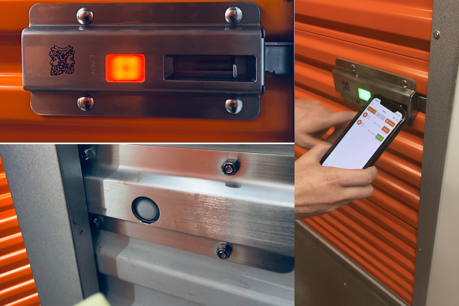 Bluetooth, external lock on self storage doors