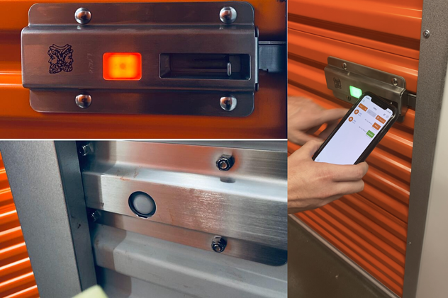 Noke ONE multi-image with lock, thermal motion sensor, and mobile access to unit