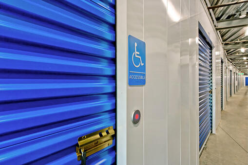 self storage facility with ada compliant roll up doors