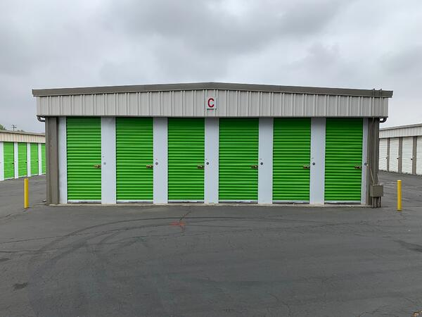 A drive-up storage facility