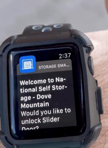 Smart watch for Noke app