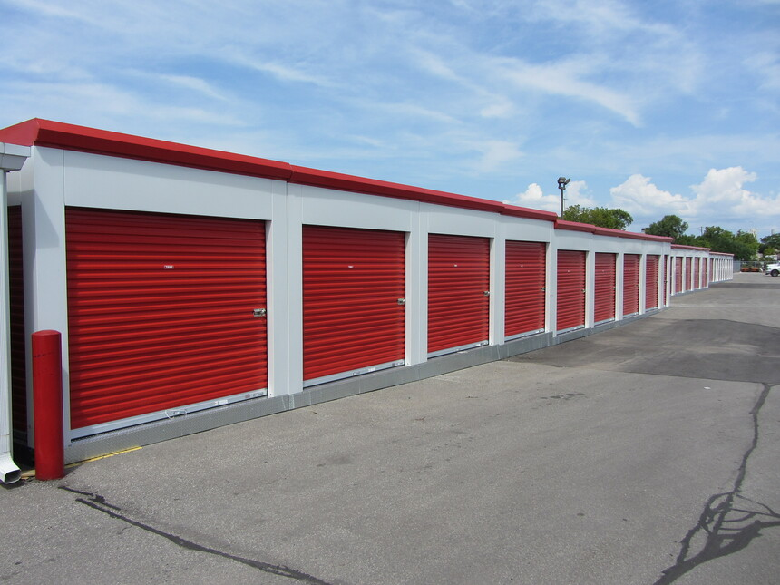 MASS portable storage units on site in Yorkdale Ontario