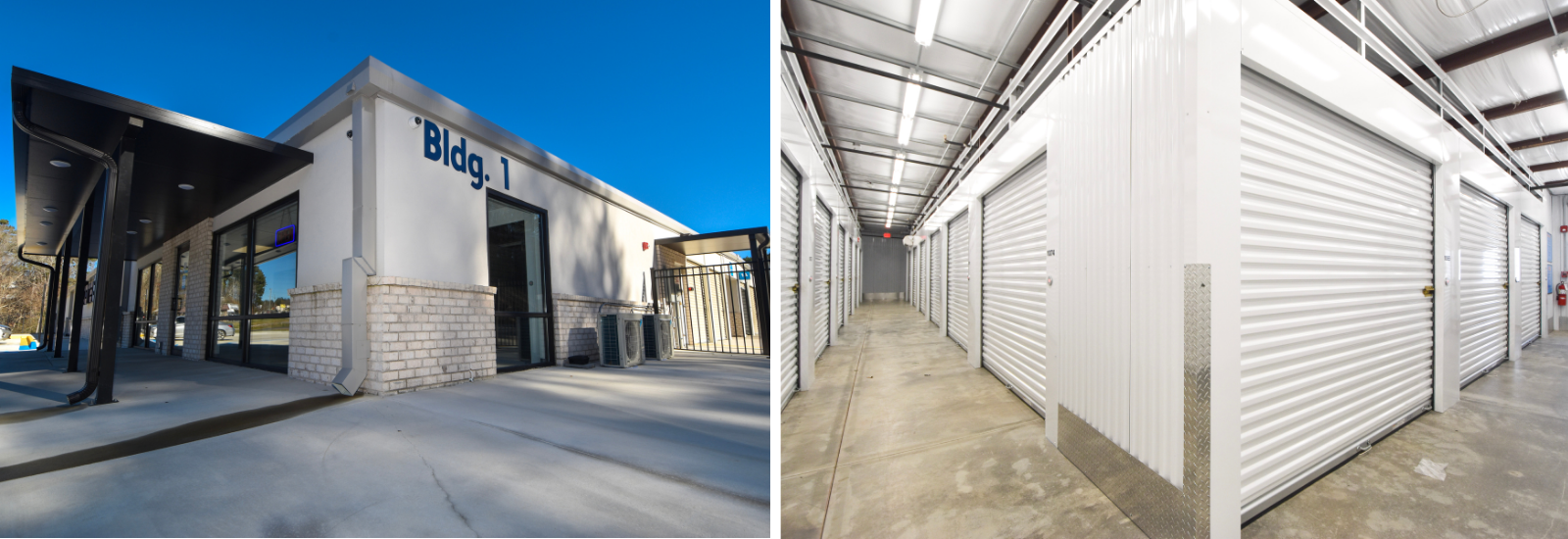 Exterior and interior view of StoreEase Fultondale, AL