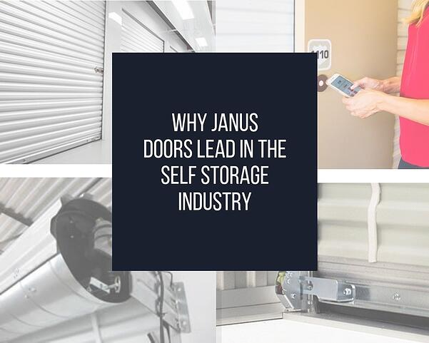 Janus self-storage doors are the best in the industry graphic