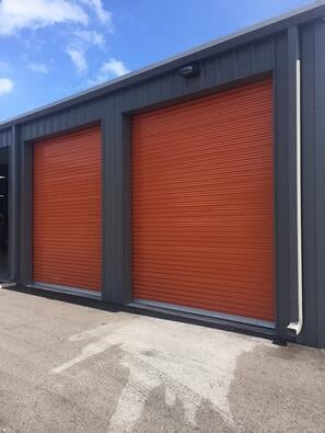 orange self-storage doors
