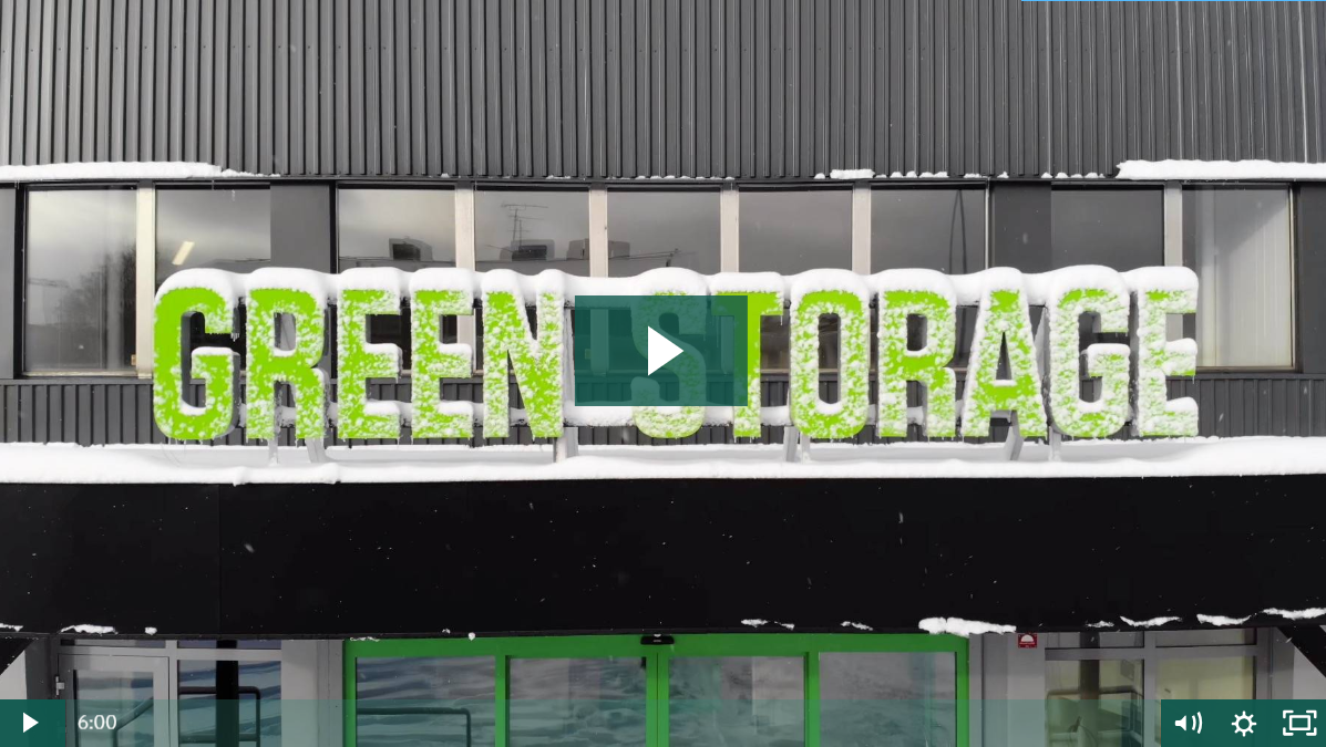Front of self storage facility: Green Storage in Stockholm, Sweden
