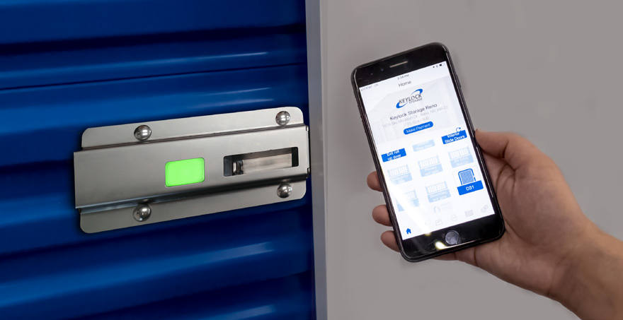 Noke ONE on door automatic self storage locking solution