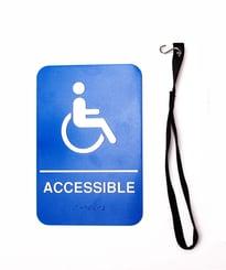 ADA complaint swing door kit placard