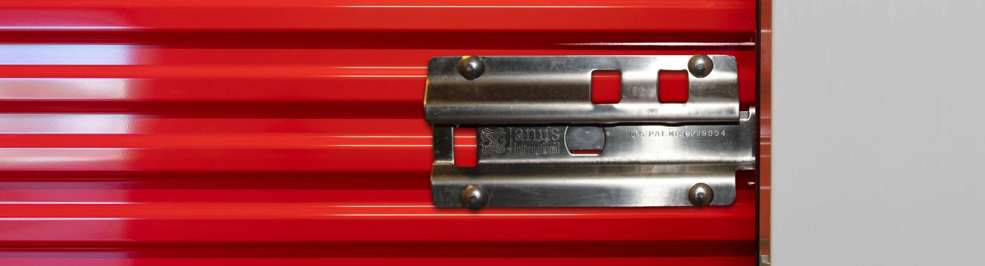 self-storage door latch