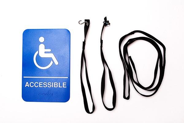 ADA compliant door kit with placard
