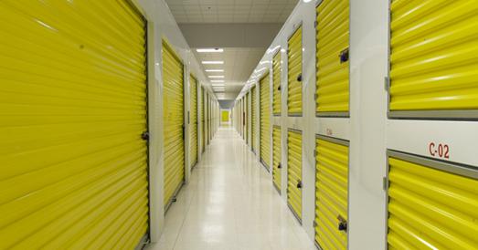 self storage doors and hallway