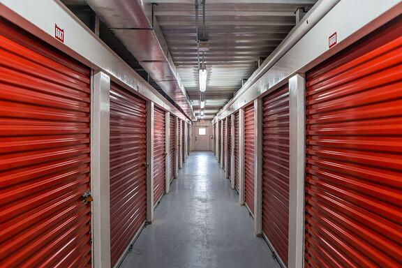 self storage roll up doors and hallway system