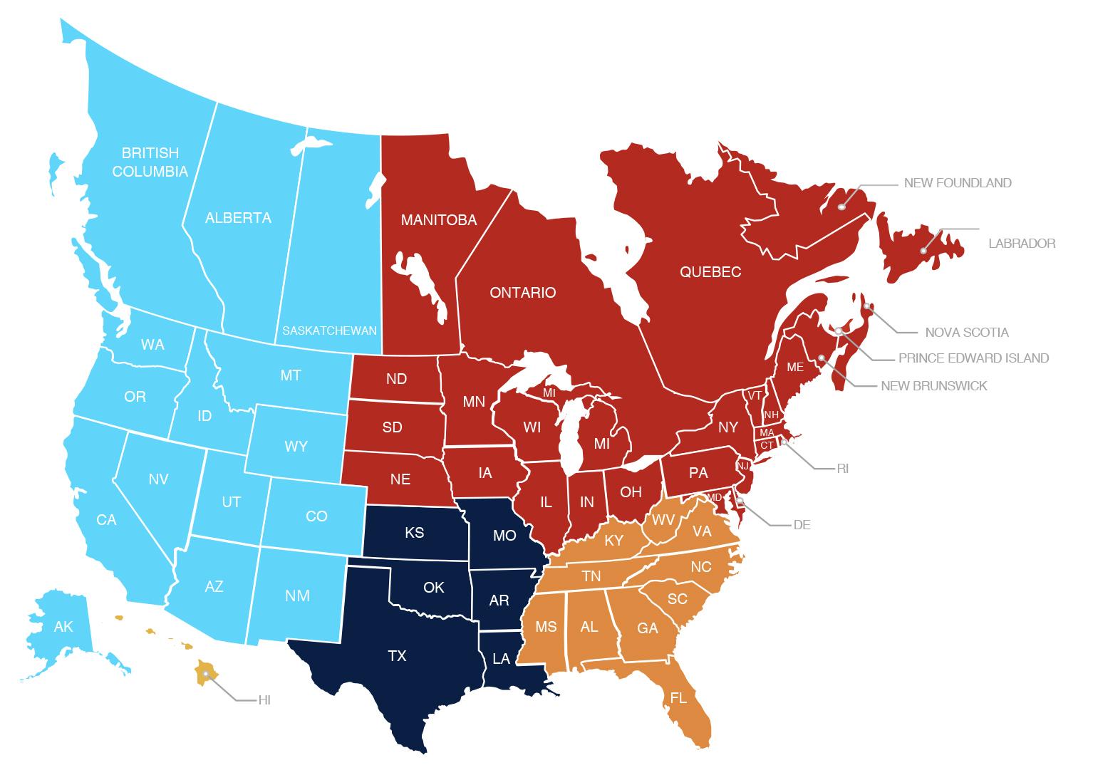 Janus International Commercial Territory Map