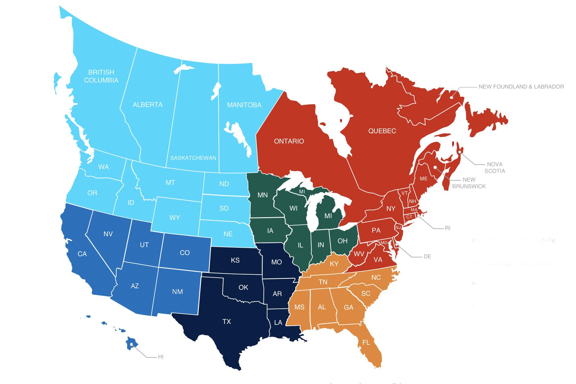 Janus International RS Territory Map