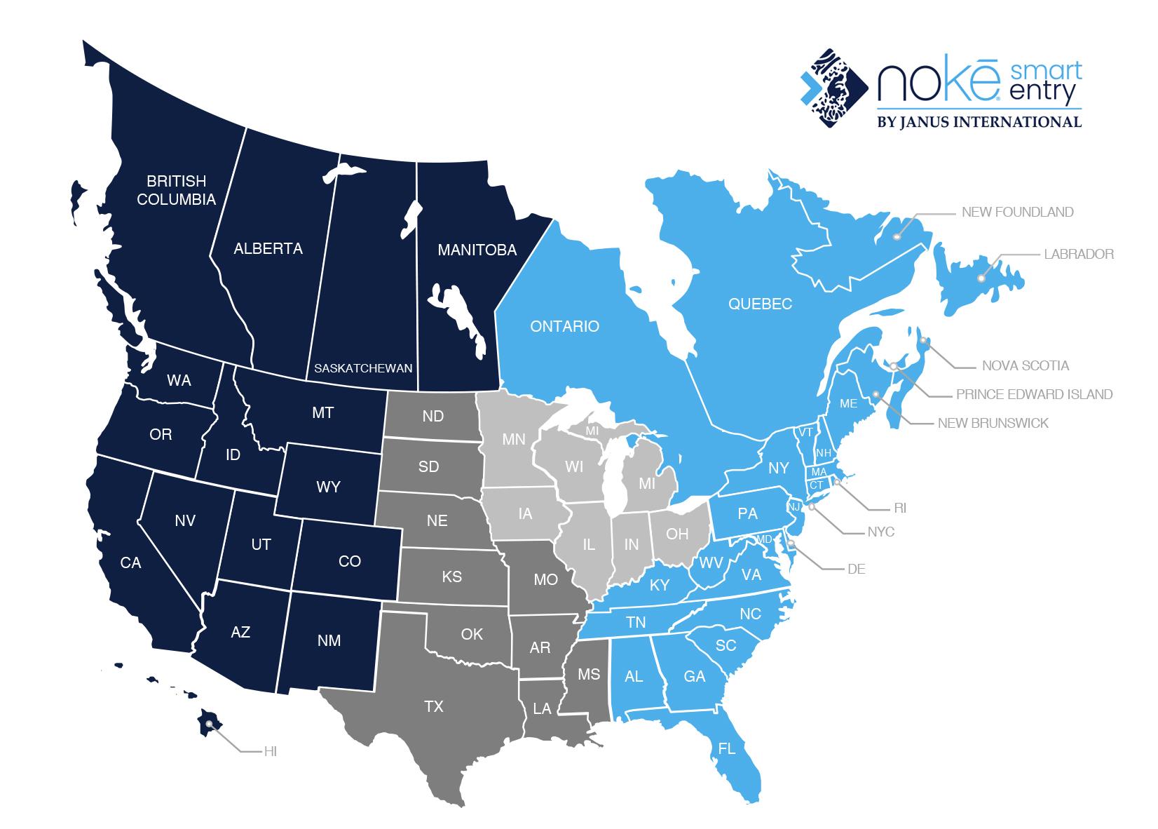 Janus International Noke Territory Map